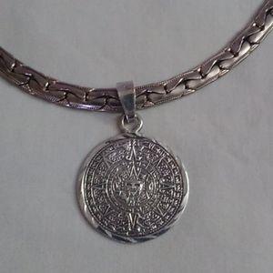 Azteca Mayan vintage pendant necklace